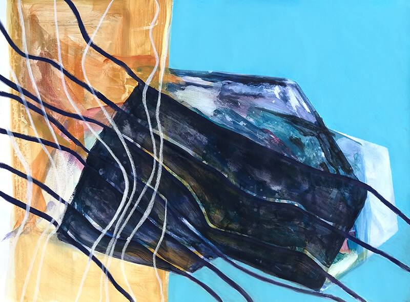 Abstract Painting by Richelle Cripe: The Obsidian Mound #2